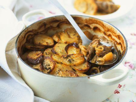 Gebackener Fleisch-Kartoffel-Topf