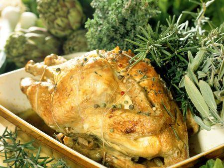 Gebackenes Huhn mit Kräutern auf französische Art