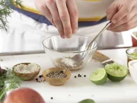 Gebeizte Lachsforelle: Zubereitungsschritt 10