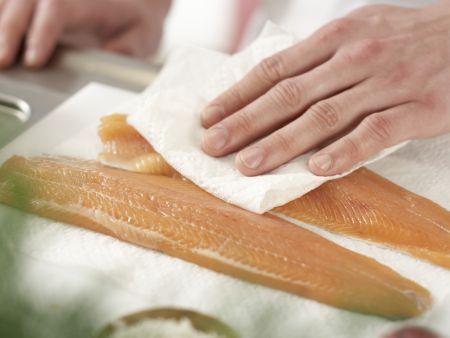 Gebeizte Lachsforelle: Zubereitungsschritt 2
