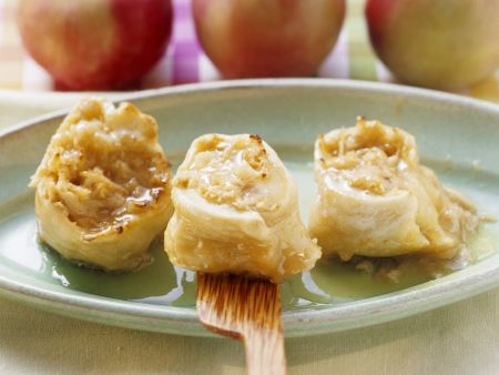 Gebratene Apfelschnecken