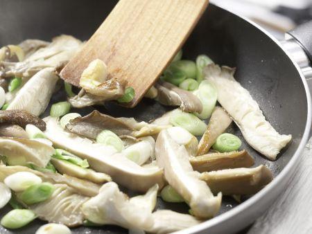 Gebratene Austernpilze auf Polenta: Zubereitungsschritt 3