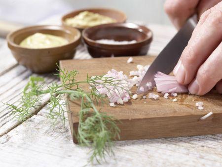 Gebratene Lachsfilets: Zubereitungsschritt 2