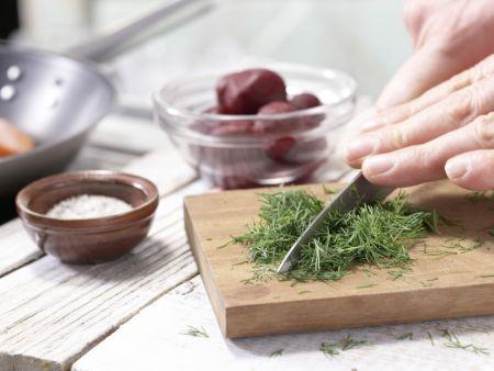 Gebratene Lachsfilets: Zubereitungsschritt 6