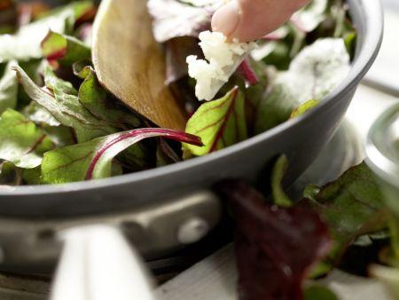 Gebratene Makrelenfilets: Zubereitungsschritt 6