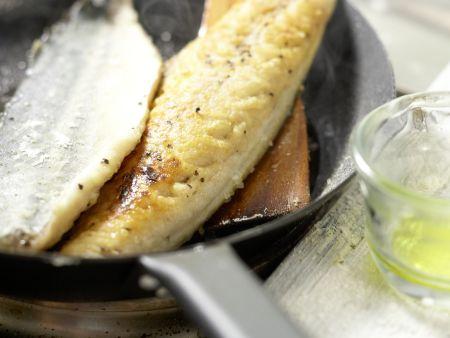 Gebratene Makrelenfilets: Zubereitungsschritt 7