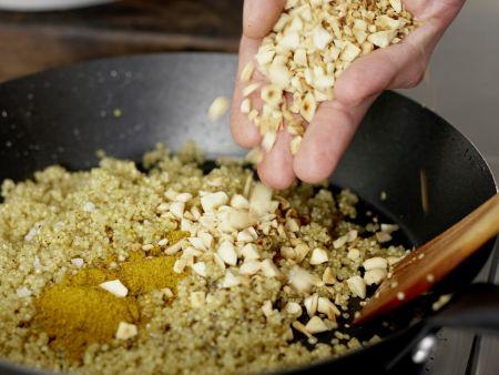 Gebratener Quinoa: Zubereitungsschritt 4