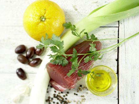 Gebratener Thunfisch: Zubereitungsschritt 1
