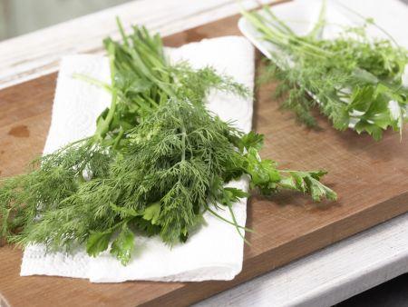 Gebratenes Lachsfilet: Zubereitungsschritt 1