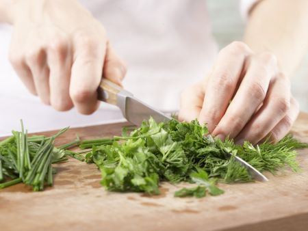 Gebratenes Lachsfilet: Zubereitungsschritt 2