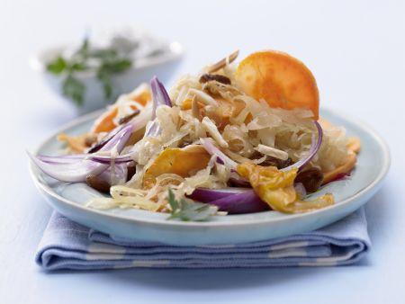 Gebratenes Sauerkraut
