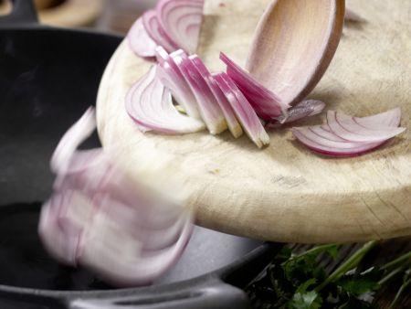 Gebratenes Sauerkraut: Zubereitungsschritt 4
