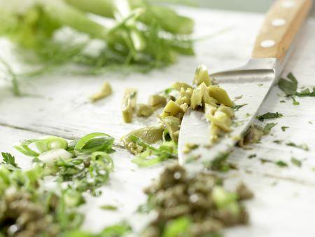 Gedünstete Lachssteaks: Zubereitungsschritt 2