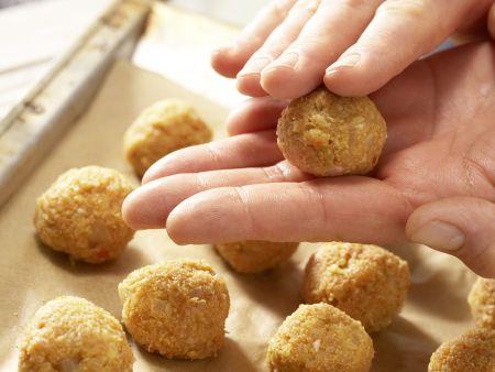 Geflügel-Bulgur-Bällchen Kicker: Zubereitungsschritt 7