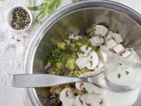Geflügelsalat-Brötchen: Zubereitungsschritt 3