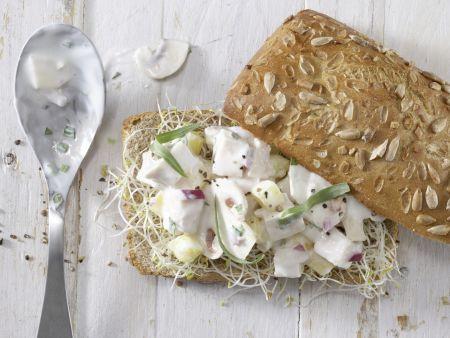 Geflügelsalat-Brötchen: Zubereitungsschritt 4