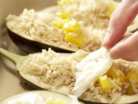 Gefüllte Auberginen: Zubereitungsschritt 8