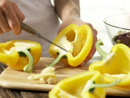 Gefüllte gelbe Paprikaschote: Zubereitungsschritt 5