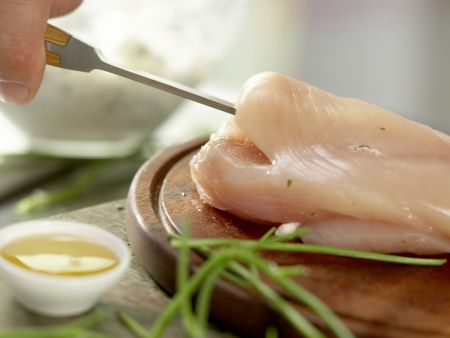 Gefüllte Hähnchenbrust: Zubereitungsschritt 4