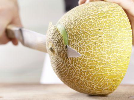 Gefüllte Melone: Zubereitungsschritt 2