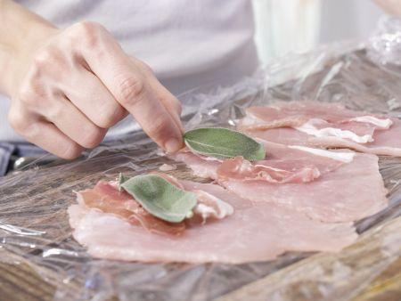 Gefüllte Putenschnitzel: Zubereitungsschritt 2