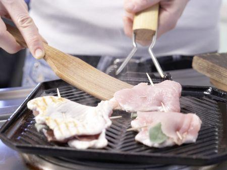 Gefüllte Putenschnitzel: Zubereitungsschritt 5