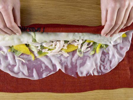 Gefüllte Reispapierrollen: Zubereitungsschritt 7