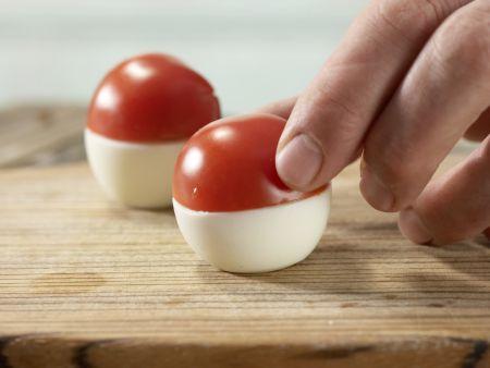 Gefüllte Tomaten-Fliegenpilze: Zubereitungsschritt 5