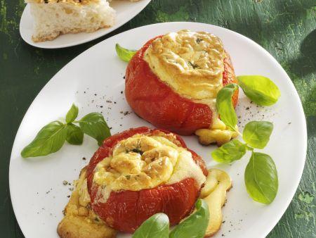 Gefüllte Tomaten mit Mascarponesouffle