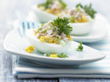 Gefüllte Wasabi-Eier