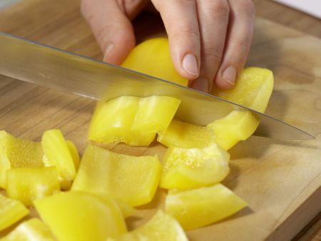 Gefülltes Baguette: Zubereitungsschritt 2