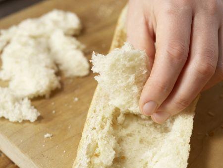 Gefülltes Baguette: Zubereitungsschritt 4