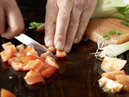 Gegrillte Lachsspieße: Zubereitungsschritt 2