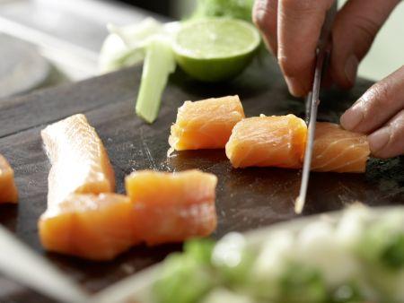 Gegrillte Lachsspieße: Zubereitungsschritt 9