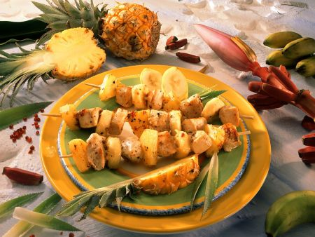 Rezept: Gegrillte Puten-Ananasspieße
