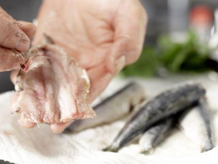 Gegrillte Sardinen: Zubereitungsschritt 5