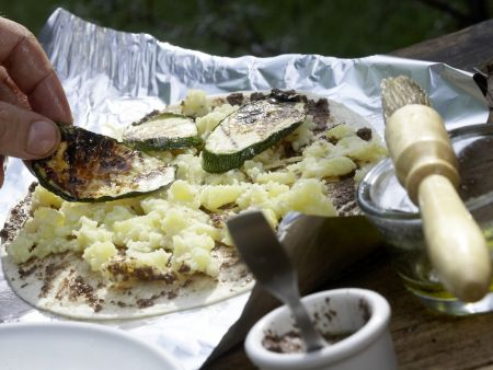 Gegrillte Tortillas: Zubereitungsschritt 8