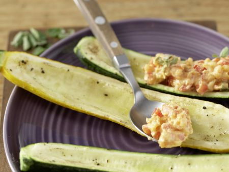 Gegrillte Zucchini mit Topping: Zubereitungsschritt 7