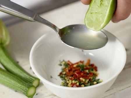Gegrillte Zucchiniblüten: Zubereitungsschritt 4