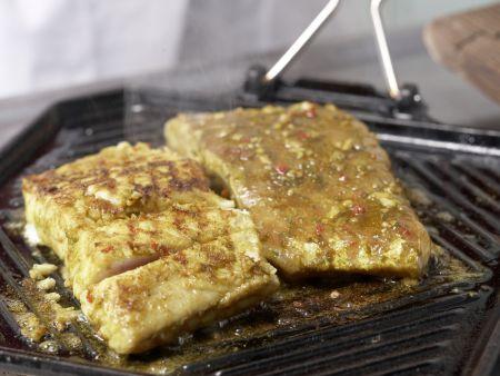 Gegrillter Curry-Seelachs: Zubereitungsschritt 8