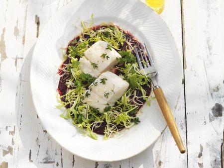 Gegrillter Kabeljau mit Rote-Bete-Salat