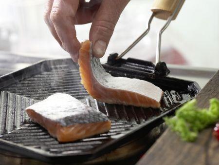 Gegrillter Lachs mit Fenchel: Zubereitungsschritt 3