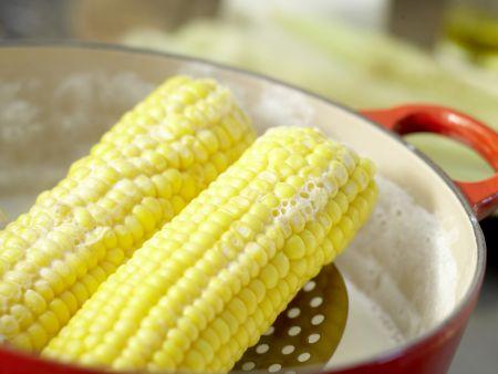 Gegrillter Mais: Zubereitungsschritt 1