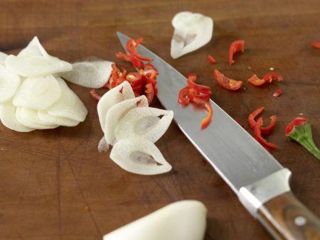 Gegrillter Schafskäse: Zubereitungsschritt 1
