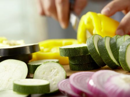 Gegrilltes Gemüse: Zubereitungsschritt 1