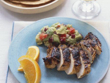 Gegrilltes Hähnchenfilet mit Guacamole