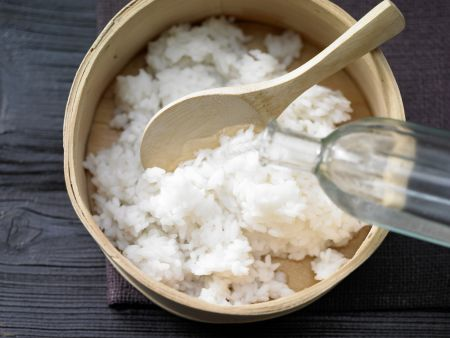 Gekochter Sushi-Reis