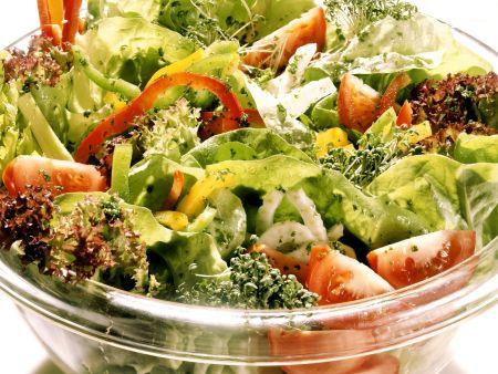 Gemischter Salat mit frischen Kräutern