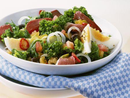 Gemischter Salat mit Grünkohl und Entenbrust