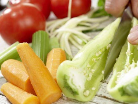 Gemischter Salat: Zubereitungsschritt 1